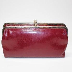 c5df020f844bc2 HOBO · HOBO Patent Leather Lauren Bifold Wallet Clutch